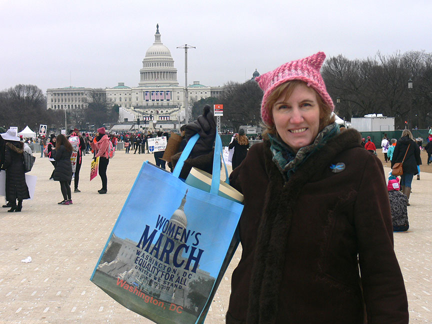 Michele Wright at the Women's March on Washington.